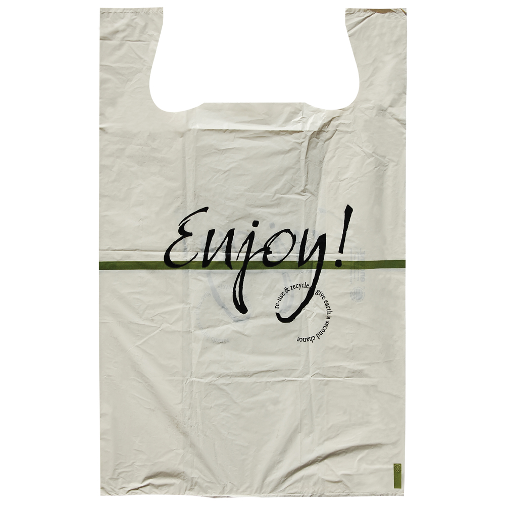 Restaurant Carry-Out Frosted T-Shirt Bags