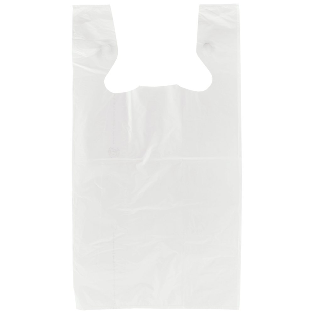 Black t shirt carryout bags - Restaurant Carry Out Frosted T Shirt Bags