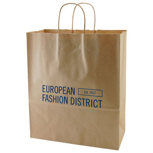 50% Recycled Natural Kraft Shopping Bags