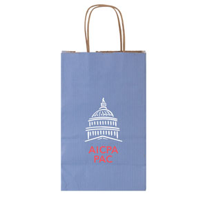 Stripe Tinted Kraft Shopping Bags