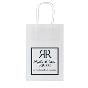 Recycled White Kraft Shopping Bags