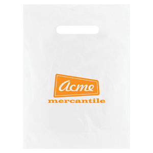 Frosted Die Cut Merchandise Bags