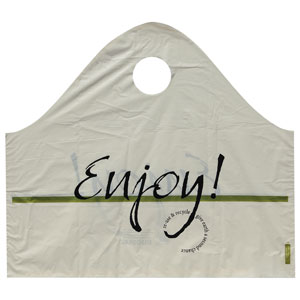 Restaurant Carry-Out Frosted Super Wave Bags