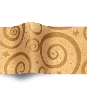Gold Swirls on Kraft_168A